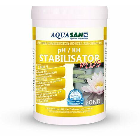 AQUASAN Gartenteich pH / KH Stabilisator PLUS (Erhöht den KH-Wert und stabilisiert den pH-Wert - Sorgt dabei für lebenswichtige und stabile Wasserwerte im Teich)