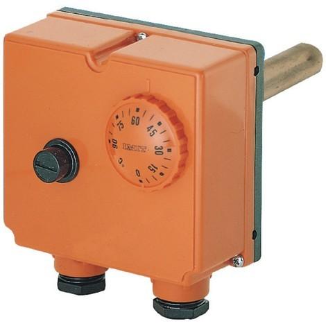 Aquastat double 0°-90°C, plongeur 100mm, limite 100°C, réarmement manuel, TLSC Réf. TR542714 DISPART COMPOSANT STANDARD