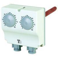 Aquastat plongeant double de 30° à 120° et 0 à 60° avec régl.externe