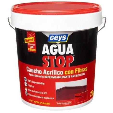 AQUASTOP CAUCHO ACRILICO FIBRA 20K. ROJO