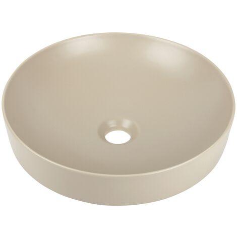 'aquaSu® Aufsatzwaschtisch Corvo 40 cm I Waschbecken I Waschschale I Cappuccino