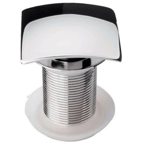 'aquaSu® Design Schaftventil Square 85 mm | nicht verschließbar | für Waschbecken ohne Überlauf | chrom | eckig | Standard-Anschluss: 1 1/4 | 8,5 cm Schaftlänge | 70 x 70 mm | Metall | 22690 5