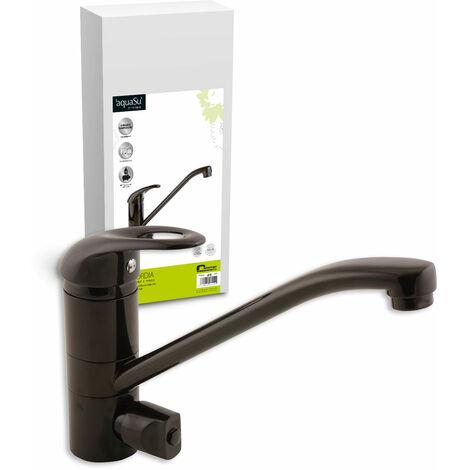 'aquaSu® Einhandmischer Concordia für Küchenspüle , Mit Geräteanschluss , Mocca , Wasserhahn , Spüle