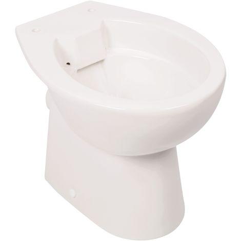 'aquaSu® Spülrandloses Stand-WC | Tiefspüler | Abgang waagerecht | Weiß | Toilette | Spülrandloses WC | Klo ohne Rand | Stand-WC Randlos | mit Bodenbefestigung | 57240 8