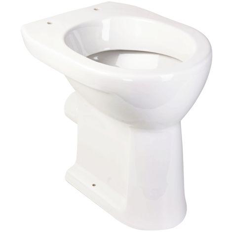 'aquaSu® Stand-WC +6 cm | Toilette | Erhöhtes WC | Für große Menschen und für Senioren | Flachspüler | Abgang waagerecht | Weiß | Klo