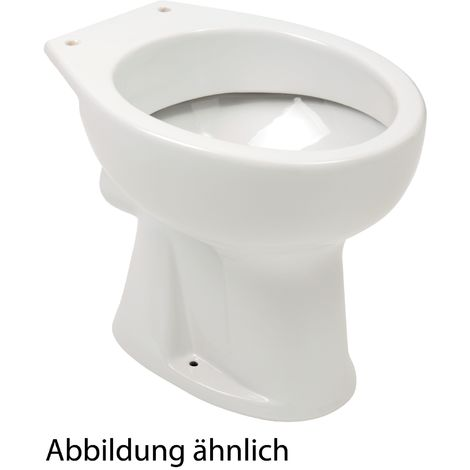 'aquaSu® Stand-WC | Flachspüler | Abgang waagerecht | Weiß | Toilette | Gäste-WC | Bad | Badezimmer | Klo | Keramik
