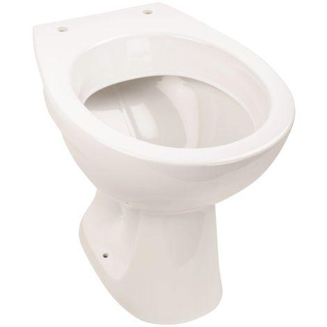 'aquaSu® Stand-WC | Tiefspüler | Abgang waagerecht | Weiß | Toilette | Klo | Bad | Badezimmer | Gäste-WC | Keramik