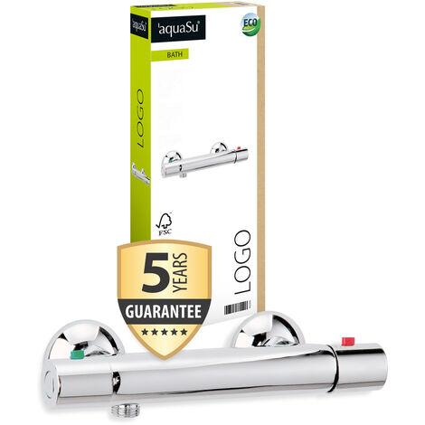 'aquaSu® Thermostat Batterie Logo für Brause, 1 Stück, chrom, 78229 6