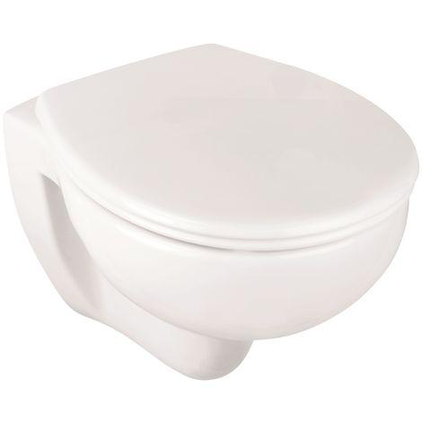 'aquaSu® Wand-WC-Set , Tiefspüler , Spülrandlose Toilette , Hängetoilette , Einfache Reinigung , weiß