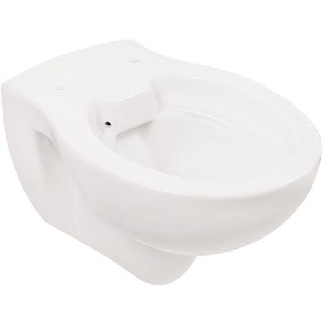 'aquaSu® Wand-WC , Spülrandlos , Tiefspüler , Abgang waagerecht , Weiß , Toilette , Spülrandloses WC , Klo , Hänge-WC , Randlos