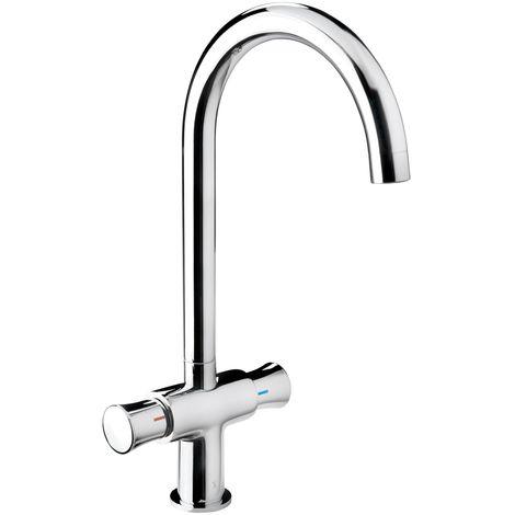 'aquaSu® Zweigriffmischer Ocean für Waschtisch | Chrom | Wasserhahn