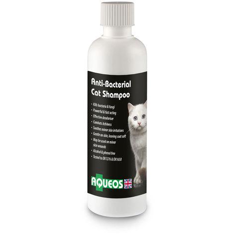 Aqueos Anti-Bacterial Cat Shampoo Liquid (200ml) (White)