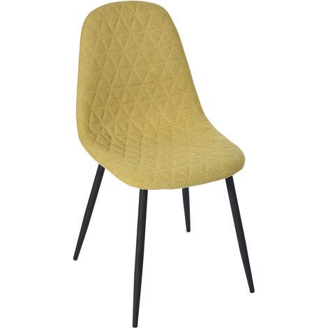 AR73 Juego de 4 sillas de comedor amarillas