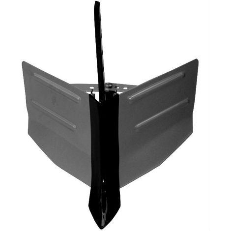 Arado vertedera ajustable