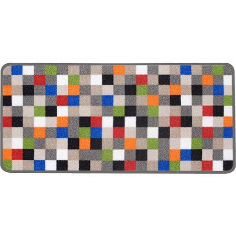 Aramis Tapis de cuisine pixel gris 44x100 cm