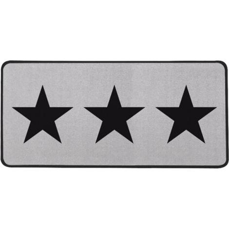 Aramis Tapis de cuisine star noir gris 44x100 cm