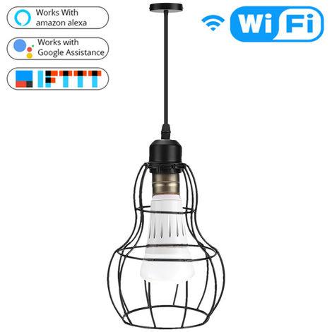 Arana WIFI inteligente E27 lampara, APP controlable, Negro