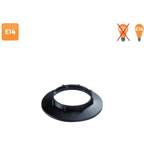 Arandela para portalámparas E14 negra