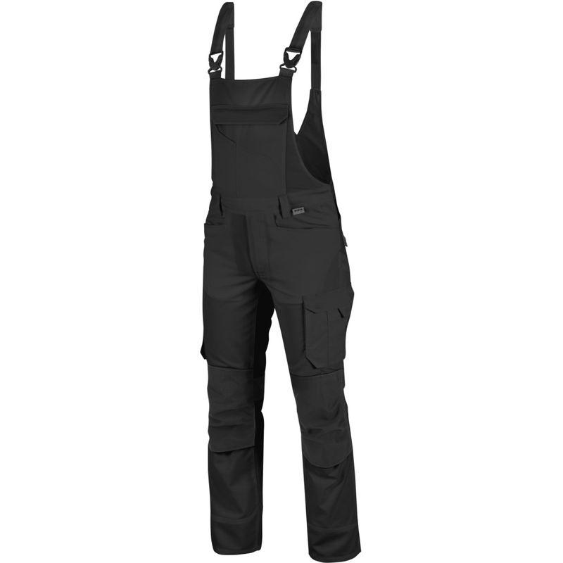 Cetus Arbeitslatzhose: Die hochwertige Arbeitslatzhose ist in der Größe 50 & in schwarz erhältlich. Die elastischen Träger sorgen für TOP