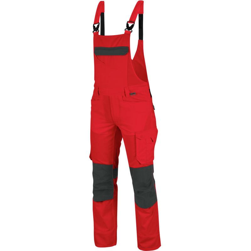 Cetus Arbeitslatzhose: Die hochwertige Arbeitslatzhose ist in der Größe 90 & in rot anthrazit erhältlich. Die elastischen Träger sorgen für TOP