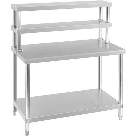 Arbeitstisch Mit Aufsatzbord Aufsatzboard Edelstahltisch Regal 140 Kg 120 Cm