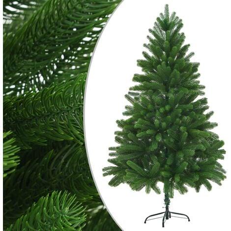 Árbol artificial de Navidad con hojas realistas 210 cm verde