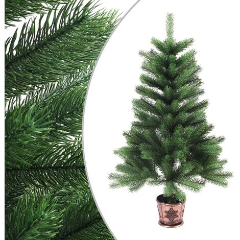 Árbol artificial de Navidad con hojas realistas 65 cm verde