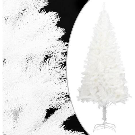 arbol artificial de Navidad con hojas realistas blanco 120 cm