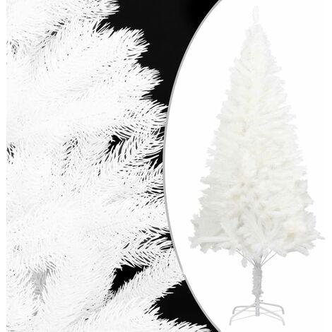 Árbol artificial de Navidad con hojas realistas blanco 120 cm - Blanco