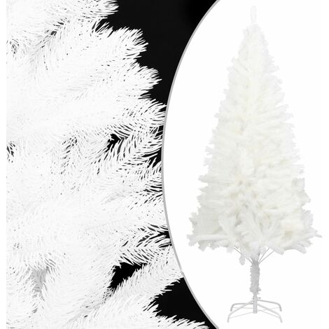 Árbol artificial de Navidad con hojas realistas blanco 150 cm - Blanco