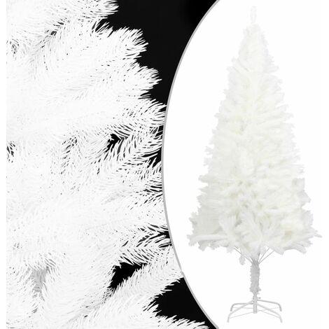 Árbol artificial de Navidad con hojas realistas blanco 240 cm - Blanco