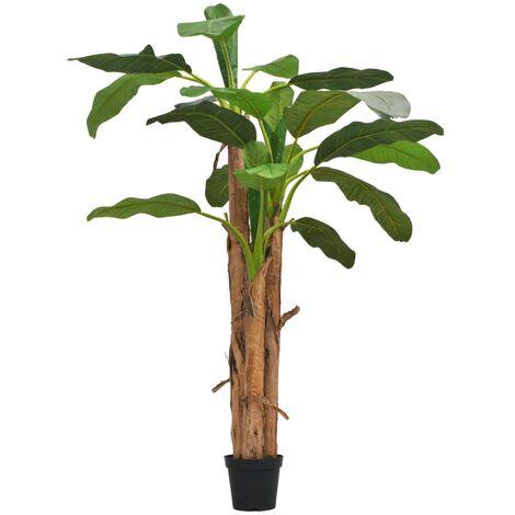 Árbol bananero artificial con macetero 250 cm verde