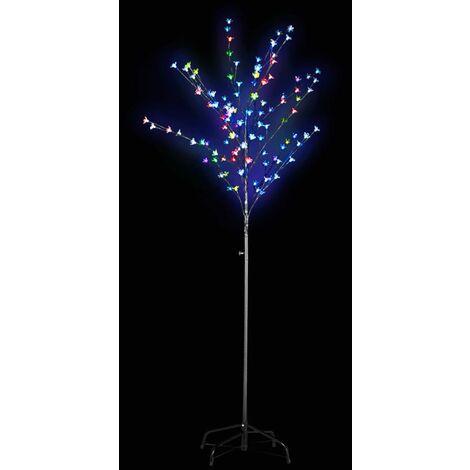 Árbol con luces LED multicolor parpadeantes 180 cm