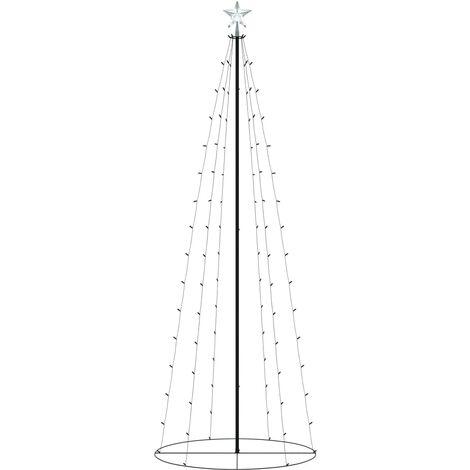 Árbol cono de Navidad 100 LED blanco cálido decoración 70x180 cm