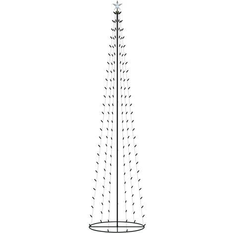 Árbol cono de Navidad 136 LED blanco cálido decoración 70x240 cm