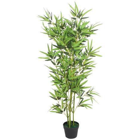 arbol de bambu artificial con maceta 120 cm verde