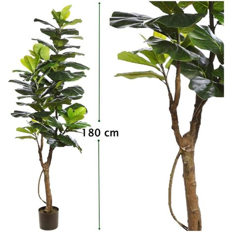 Arbol de Ficus Lyrata Artificial en Maceta. Altura 180 Cm