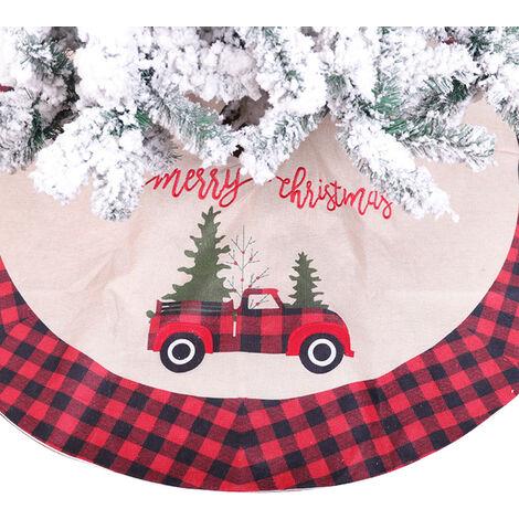 arbol de la falda del arbol de Navidad ornamento del dia de Ronda falda del arbol de Navidad De Mat Base de Cobertura para Feliz Navidad Decoracion de Ano Nuevo celebracion de dias festivos decoracion para el hogar de 42 pulgadas / 106 cm (Car)