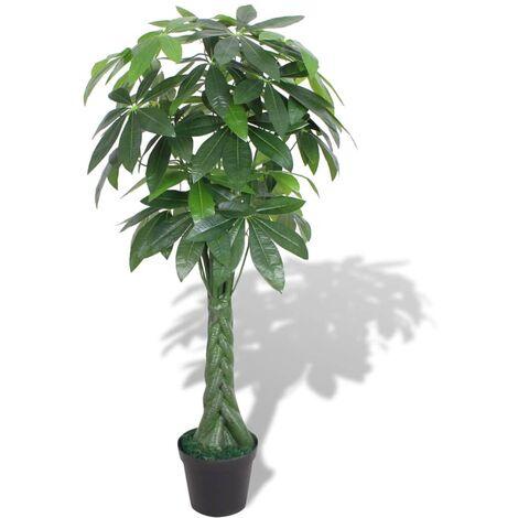 Árbol de la fortuna artificial con macetero 145 cm verde