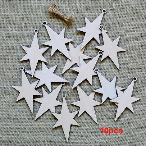 arbol de Navidad 10pcs decoraciones de madera que cuelga Colgantes Escena Crafts diseno Adornos fiesta de la boda adorno de vacaciones, 3 #