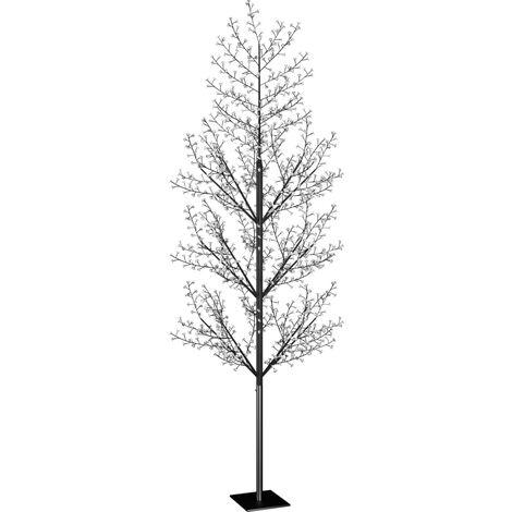 Árbol de Navidad 1200 LED luz azul fría flores de cerezo 400 cm