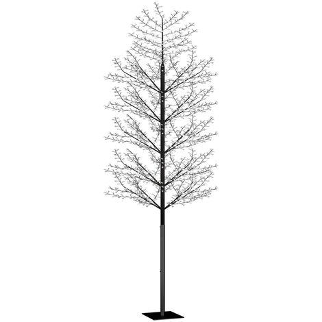 Árbol de Navidad 2000 LED luz azul fría flores de cerezo 500 cm