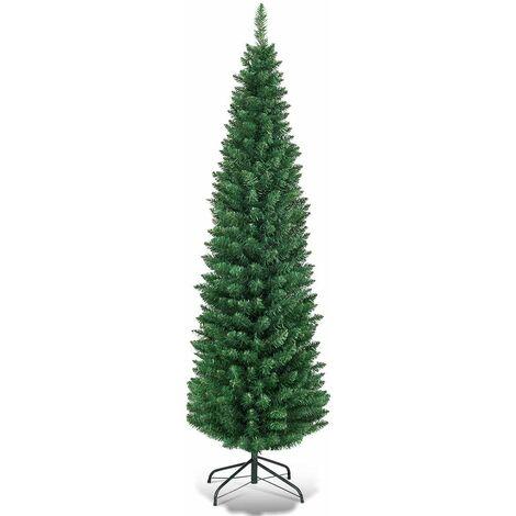 """main image of """"Árbol de Navidad Artificial 150cm Abeto con Base Material PVC Decoración para Navidad Hogar Fiesta Verde"""""""