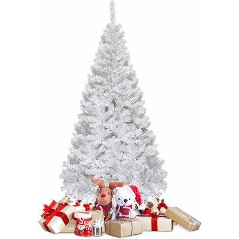 Árbol de Navidad Artificial 1,5M con Base Metálica Material PVC Decoración para Navidad Fiesta Casa Blanco