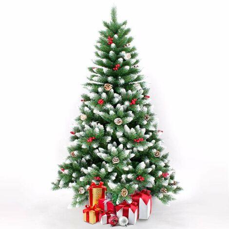 Árbol de Navidad artificial 240 cm decorado con adornos OSLO