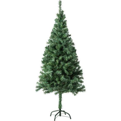 Árbol de Navidad artificial - adorno navideño para casa, pino navideño para decoración de Navidad, abeto navideño con soporte y ramas flexibles