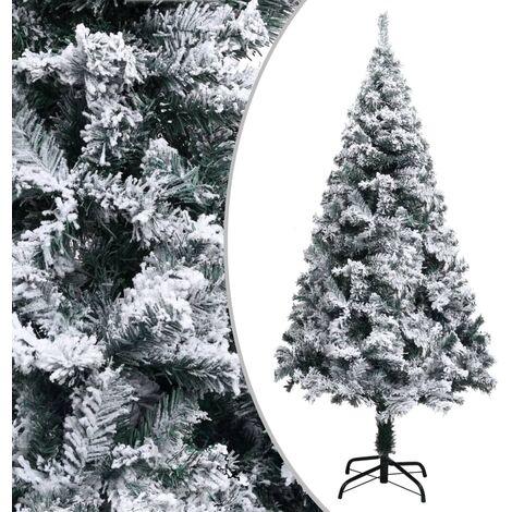 Árbol de Navidad artificial con nieve PVC verde 150 cm