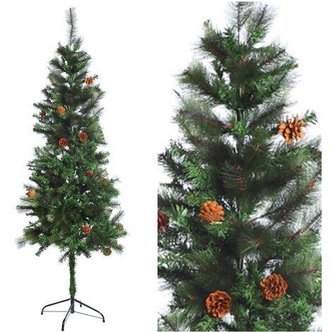 Arbol de Navidad Artificial con Piñas. 180 Cm