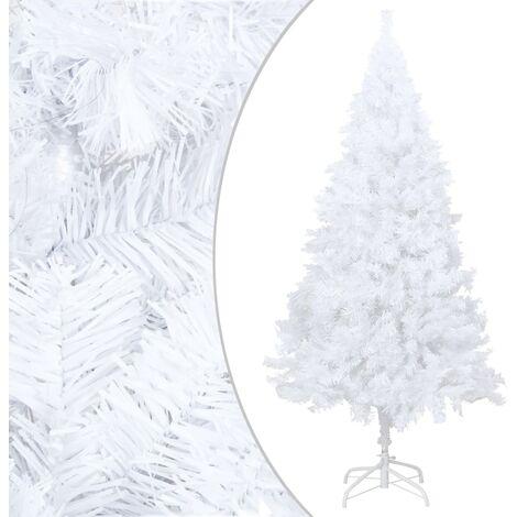 Árbol de Navidad artificial con ramas gruesas PVC blanco 210 cm