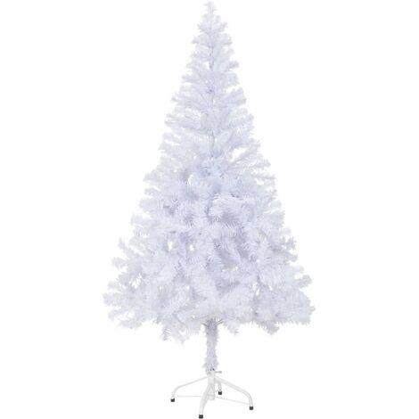 Árbol de Navidad artificial con soporte 150 cm 380 ramas - Blanco